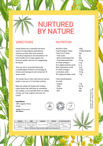 hemp hearts nutritional information