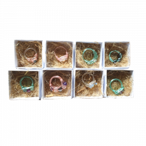 Handmade crystal ring product example